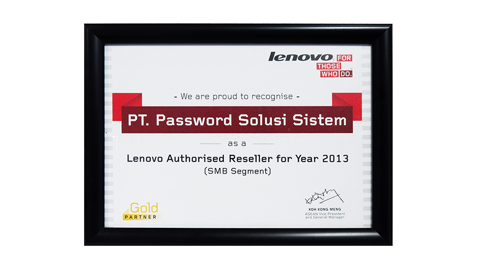 Lenovo Authorised Reseller SMB Segment 2013