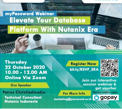 "myPassword webinar ""Elevate Your Database Platform With Nutanix Era."""