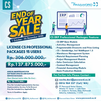 myPassword & CS ERP Promo