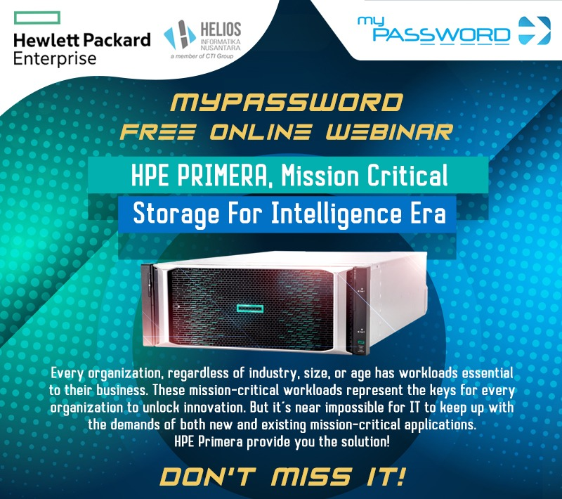 myPassword webinar HPE Primera, Mission Critical Storage For Intelligence Era